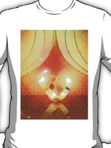 Romantic background with wedding rings 3 T-Shirt