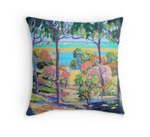 Town of 1770 View from Captain Cook's Lookout  Throw Pillow