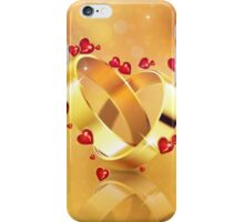 Romantic background with wedding rings 4 iPhone Case/Skin