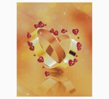 Romantic background with wedding rings 4 Baby Tee