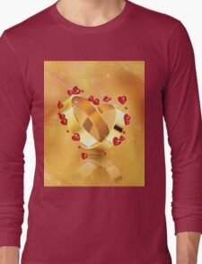 Romantic background with wedding rings 4 Long Sleeve T-Shirt