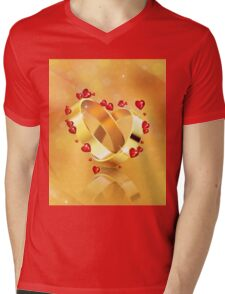 Romantic background with wedding rings 4 Mens V-Neck T-Shirt