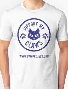 Support My Claws - The Paw Project Unisex T-Shirt