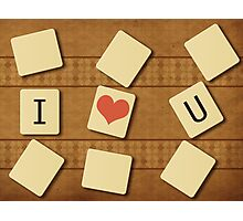 Scrabble letters Photographic Print