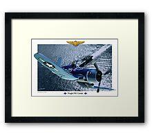 "Vought F4U ""Corsair"" Framed Print"