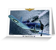 "Vought F4U ""Corsair"" Greeting Card"