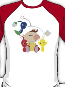 Olimar and Pikmin Vector T-Shirt