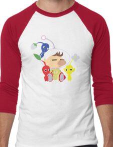 Olimar and Pikmin Vector Men's Baseball ¾ T-Shirt