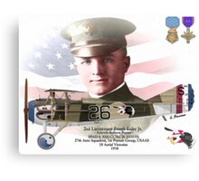 Lieutenant Frank Luke Jr. - Arizona Ballon Buster Canvas Print