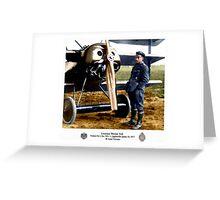 Leutnant Werner Voss Greeting Card
