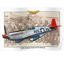 North American P-51 C Mustang - Tuskegee Poster