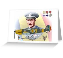 Lt. Ioan Di Cesare - Romanian WW II Ace Greeting Card