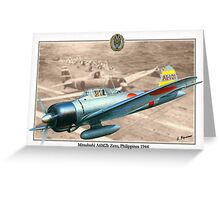 Mitsubishi A6M2b Zero Greeting Card