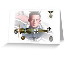 Leutnant Werner Voß Greeting Card