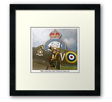 "Flight Lt. James ""Jimmy"" Whalen - RAF Framed Print"