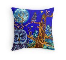 The Night Owls Throw Pillow