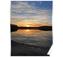 Colorful Boundary Waters Sunrise Poster