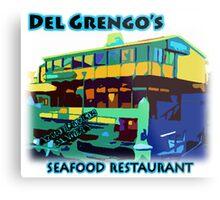 Del Grengo's Seafood Restaurant Dr. Steve Brule Design by SmashBam Metal Print
