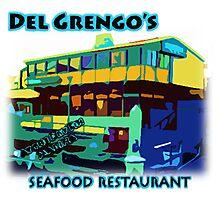 Del Grengo's Seafood Restaurant Dr. Steve Brule Design by SmashBam Photographic Print
