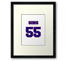 National Hockey player Shane Sims jersey 55 Framed Print
