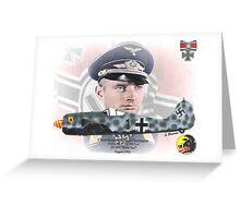 Oberstleutnant Hajo Hermann - German Nightfighter Greeting Card