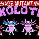 Teenage Mutant Ninja Axolotls by ChrisButler