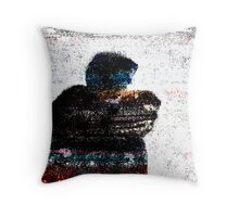 what say what wazup caped crusader Throw Pillow