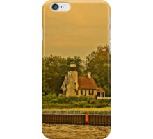 White River Lighthouse Station at Sunset, Whitehall, Michigan iPhone Case/Skin