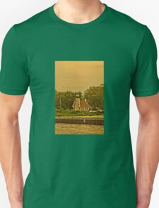 White River Lighthouse Station at Sunset, Whitehall, Michigan Unisex T-Shirt
