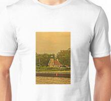 White River Lighthouse Station at Sunset, Whitehall, Michigan Unisex T-Shirt