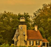 White River Lighthouse Station at Sunset, Whitehall, Michigan Sticker