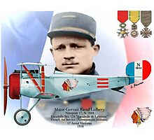 Raoul Lufbery - Escadrille Lafayette Photographic Print