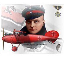 Manfred Freiherr von Richthofen Poster