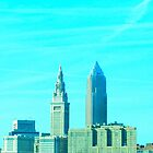 CLEVELAND OHIO SKYLINE  by JoAnnHayden