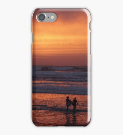 Bodyboarders at Sunset, Rossnowlagh, Co. Donegal iPhone Case/Skin
