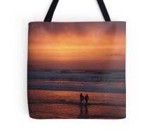Bodyboarders at Sunset, Rossnowlagh, Co. Donegal Tote Bag