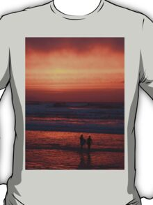 Bodyboarders at Sunset, Rossnowlagh, Co. Donegal T-Shirt