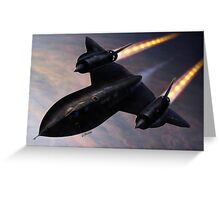 Lockheed SR 71 Blackbird Greeting Card