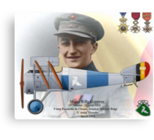 WW I Ace Major Willy Coppens Canvas Print