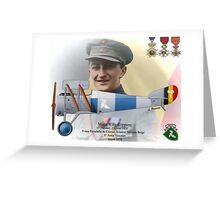 WW I Ace Major Willy Coppens Greeting Card