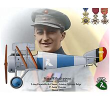 WW I Ace Major Willy Coppens Photographic Print