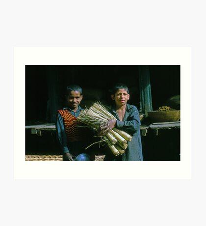 The Broom Salesmen Art Print