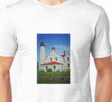 """Up North""-Point Iroquois Lighthouse, Upper Pennusula, Michigan Unisex T-Shirt"