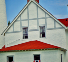 """Up North""-Point Iroquois Lighthouse, Upper Pennusula, Michigan Sticker"