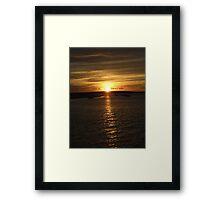 Sunset, Monkey Mia, Western Australia Framed Print