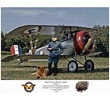 Major Raoul Lufbery - Escadrille Lafayette Photographic Print
