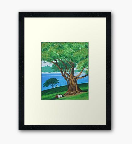 MORETON BAY FIG  (BOTANICAL GARDENS, SYDNEY) Framed Print