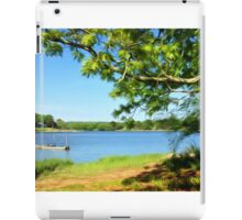 Painterly Landscape and Riverscape of a Mystic River Dock iPad Case/Skin