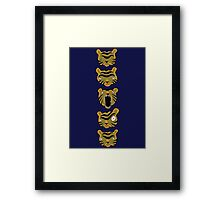 Tiger Buttons Framed Print