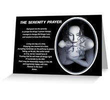 The Serenity Prayer 1 (for dark colors) Greeting Card